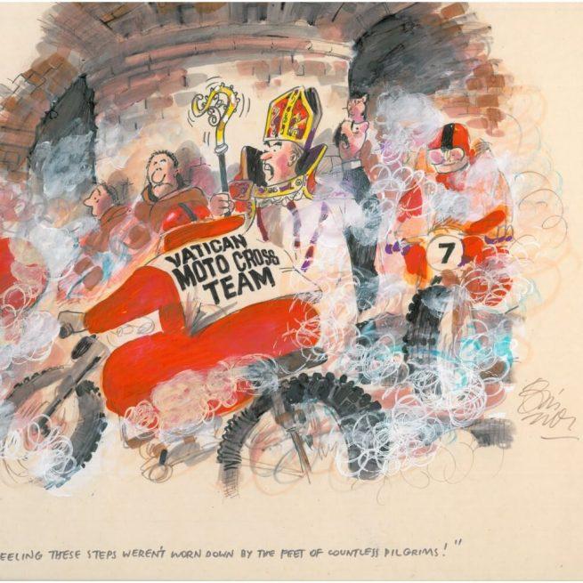 pilgrims - A Original cartoon by Bill Tidy MBE