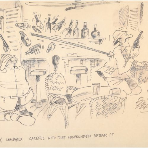 Lombard - A Original cartoon by Bill Tidy MBE